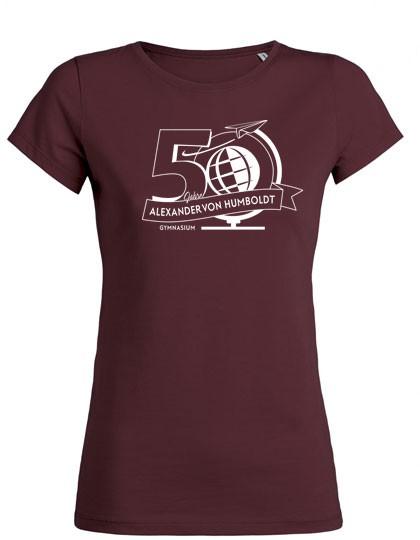 Damen T-Shirt - 100% Biobaumwolle (Gr. XS-XXL) burgundy